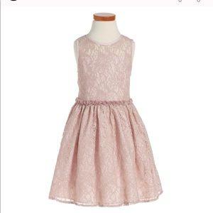 Pippa and Julie lace pink dress size 7